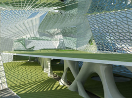 Architectural design for an urban golf course in Milan